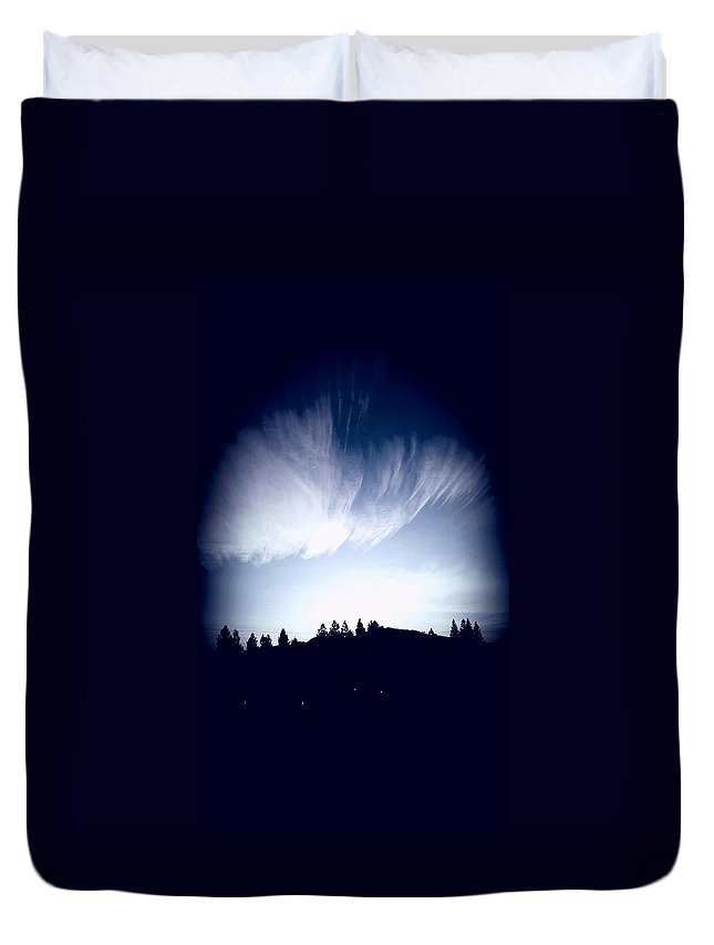 Clouds Duvet Cover featuring the mixed media Amazing Clouds by Babatunde Kayode