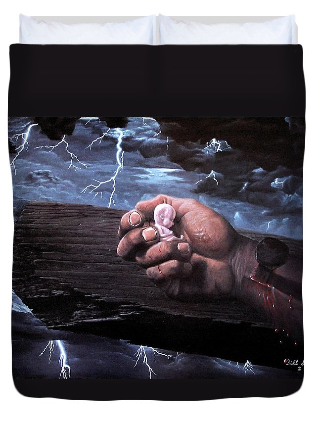 Spiritual Duvet Cover featuring the painting Amazing Grace by Bill Stephens