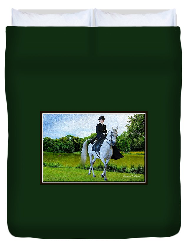Rider Duvet Cover featuring the photograph Amazon At The Park by Barbara Zahno