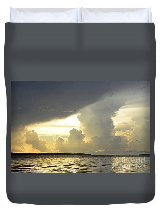 Landscape Duvet Cover featuring the photograph Amazon River Landscape by Bob Christopher