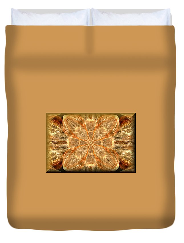 Amber Fractal Duvet Cover featuring the photograph Amber Fractal by Maria Urso