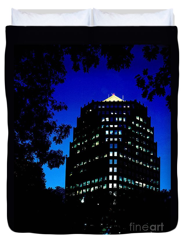 Gary Gingrich Duvet Cover featuring the photograph American Century Tower 1 by Gary Gingrich Galleries