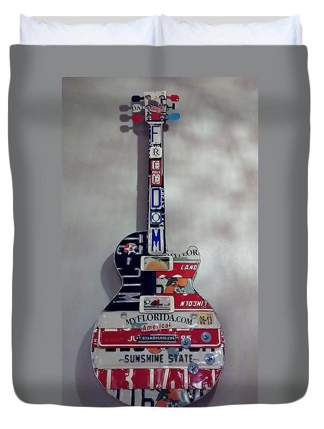 Star Spangled Duvet Cover featuring the photograph American Guitar by Rob Hans