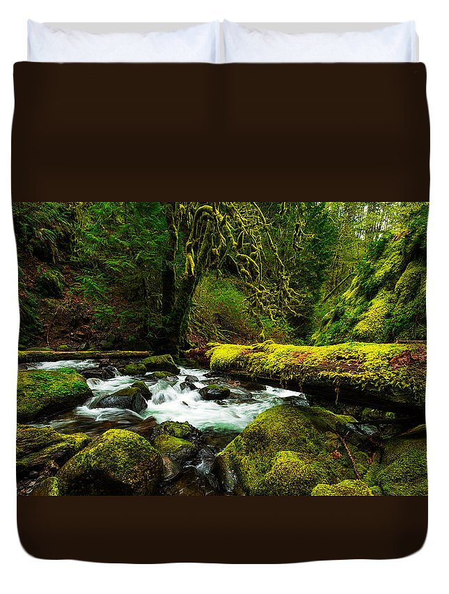Northwest Duvet Cover featuring the photograph American Jungle by Chad Dutson