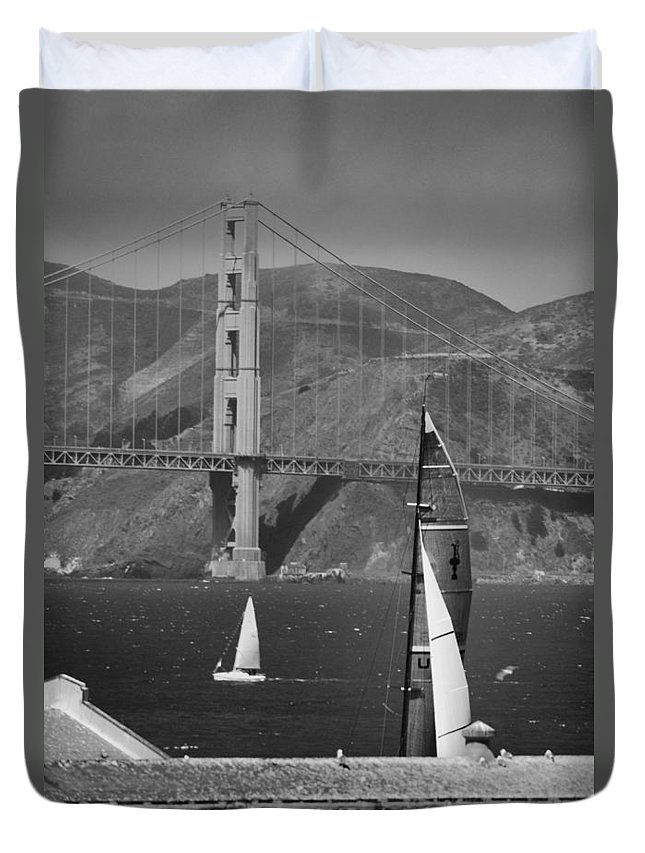 America's Cup Duvet Cover featuring the photograph America's Cup by Silvio Ligutti