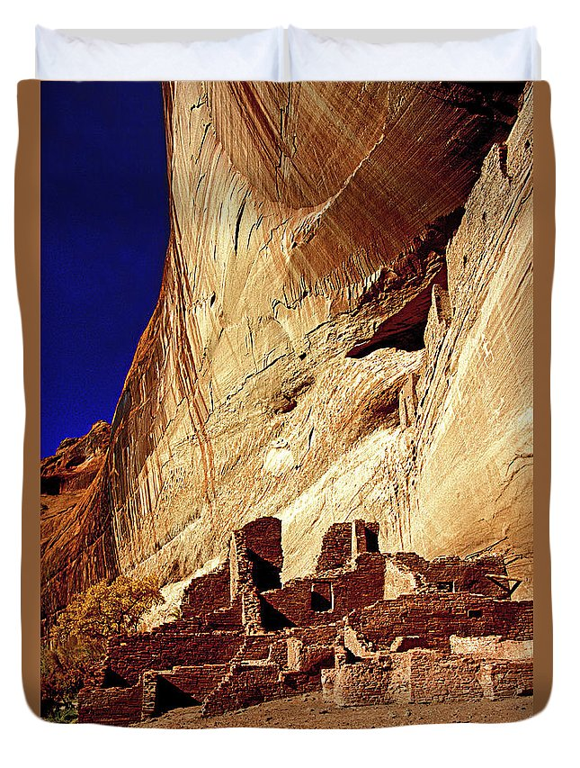 Cliff Duvet Cover featuring the photograph America's First Condos by Paul W Faust - Impressions of Light