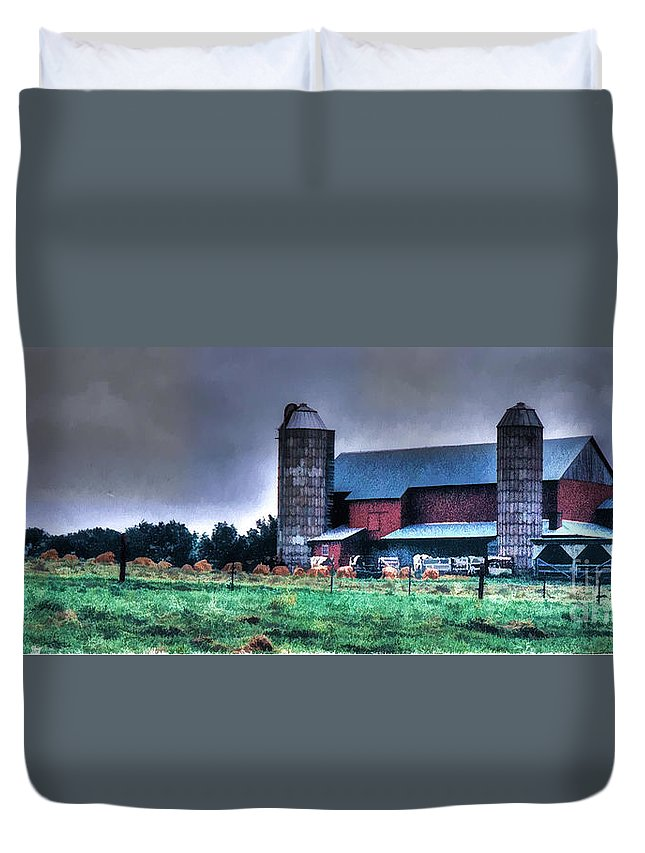 Amish Duvet Cover featuring the photograph Amish Farming 2 by Tommy Anderson