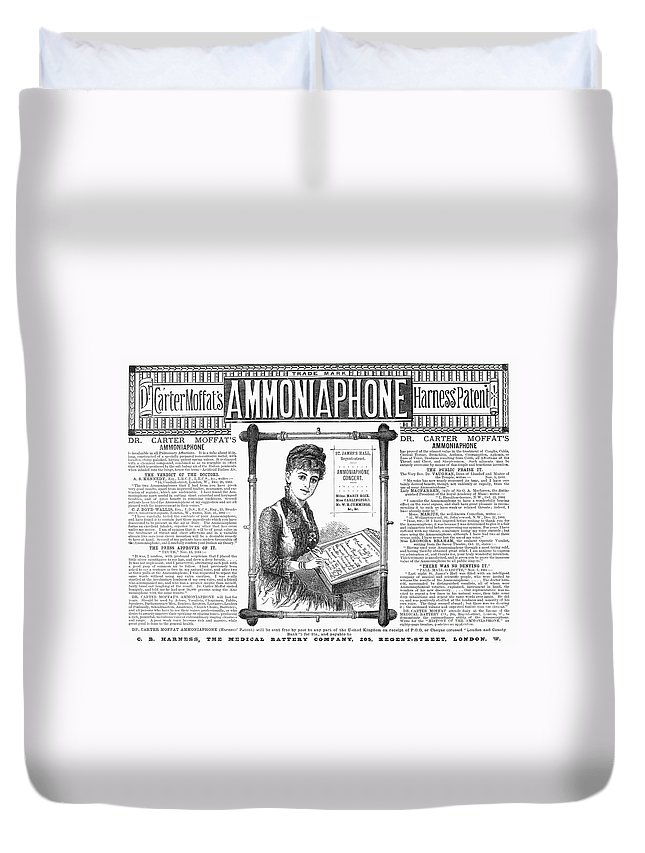 1885 Duvet Cover featuring the photograph Ammoniaphone, 1885 by Granger