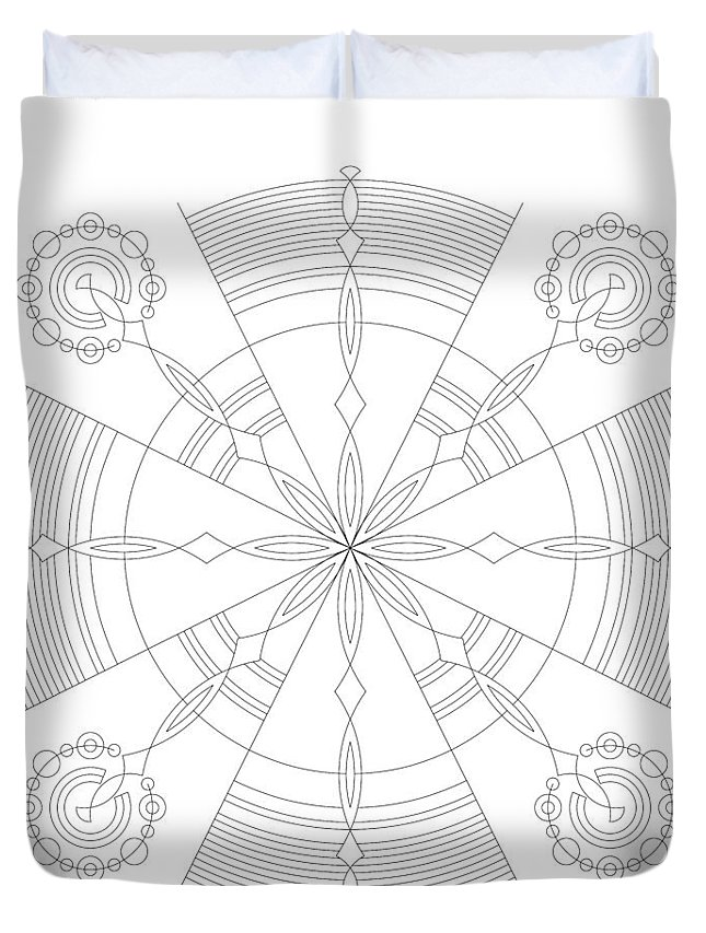 Relief Duvet Cover featuring the digital art Amplitude by DB Artist