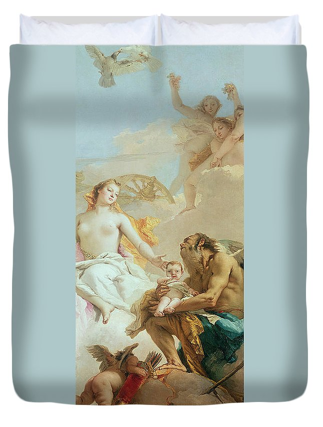Tiepolo Duvet Cover featuring the painting An Allegory With Venus And Time by Tiepolo