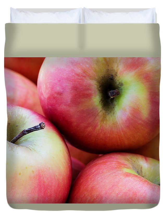 Agriculture Duvet Cover featuring the photograph An Apple A Day by Heidi Smith