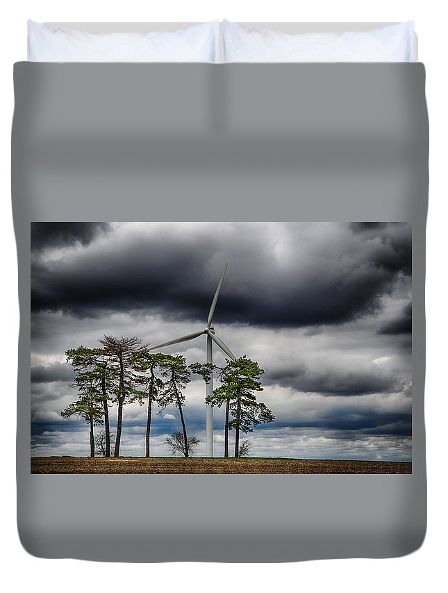 Country Duvet Cover featuring the photograph An April Sky by Christopher Nelson