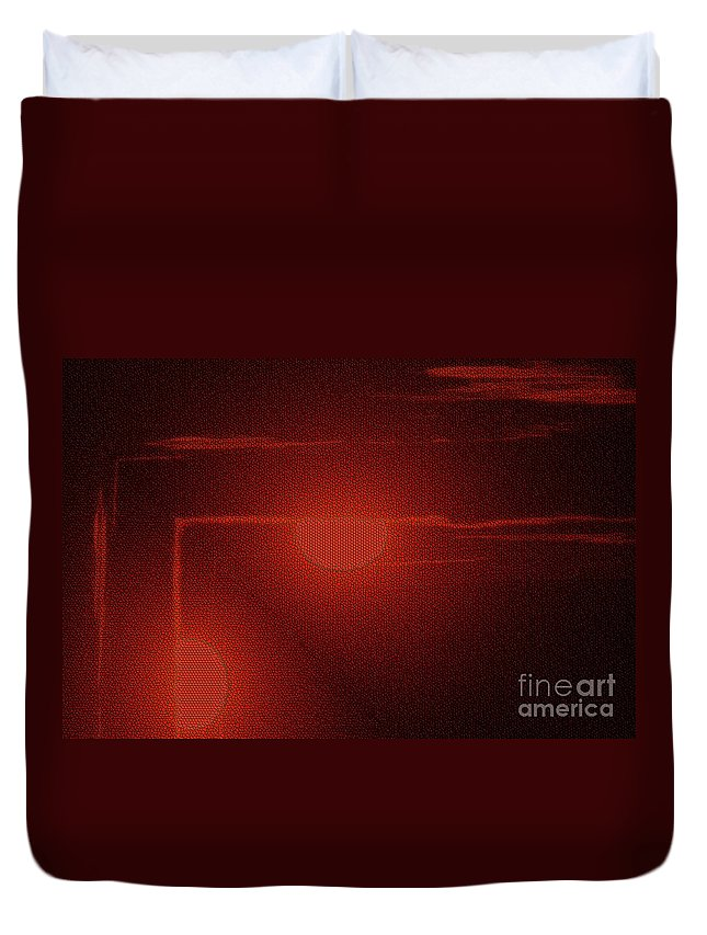 Digiyal Art Duvet Cover featuring the photograph An Arrow From The Sun by Jeff Swan