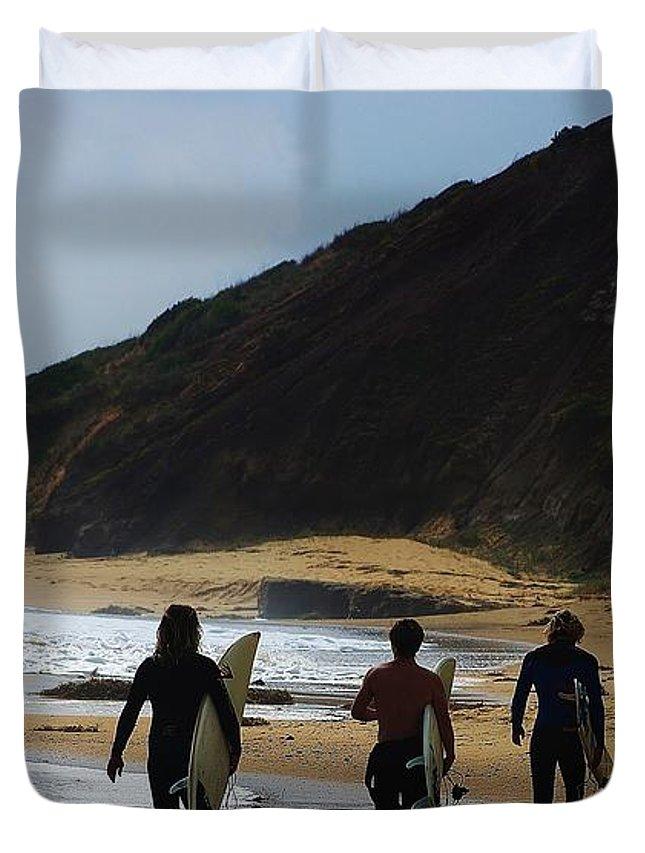 Blair Stuart Duvet Cover featuring the photograph An Aussie Pastime by Blair Stuart