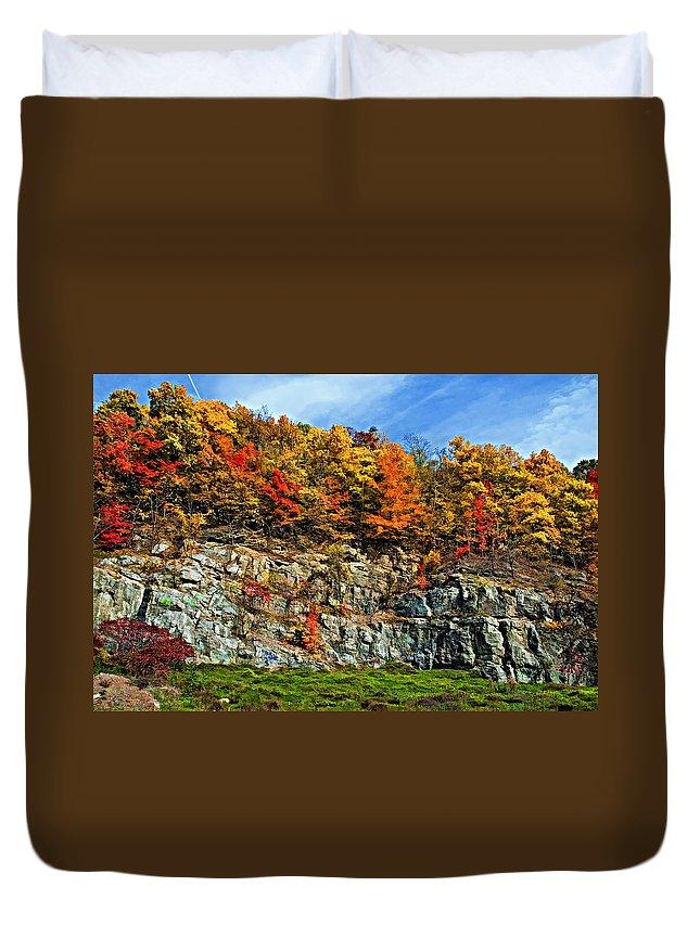 West Virginia Duvet Cover featuring the photograph An Autumn Day Painted by Steve Harrington