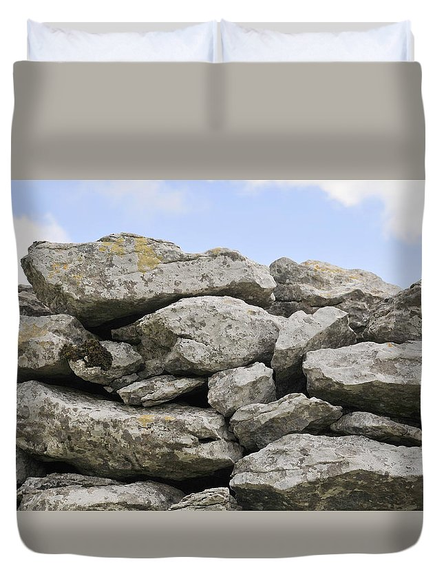 Photography Duvet Cover featuring the photograph Stone Walls by Dave Byrne