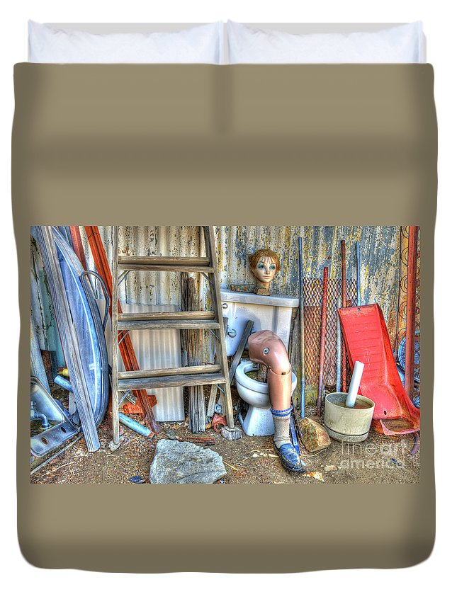 Odd Duvet Cover featuring the photograph An Odd Assortment by Bob Christopher