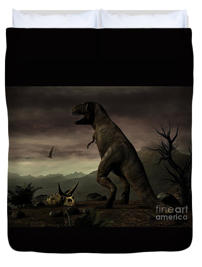 Horizontal Duvet Cover featuring the digital art An Old-fashioned Depiction by Philip Brownlow