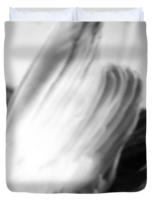 City Duvet Cover featuring the photograph An Open Wing by Tuntufye Abel