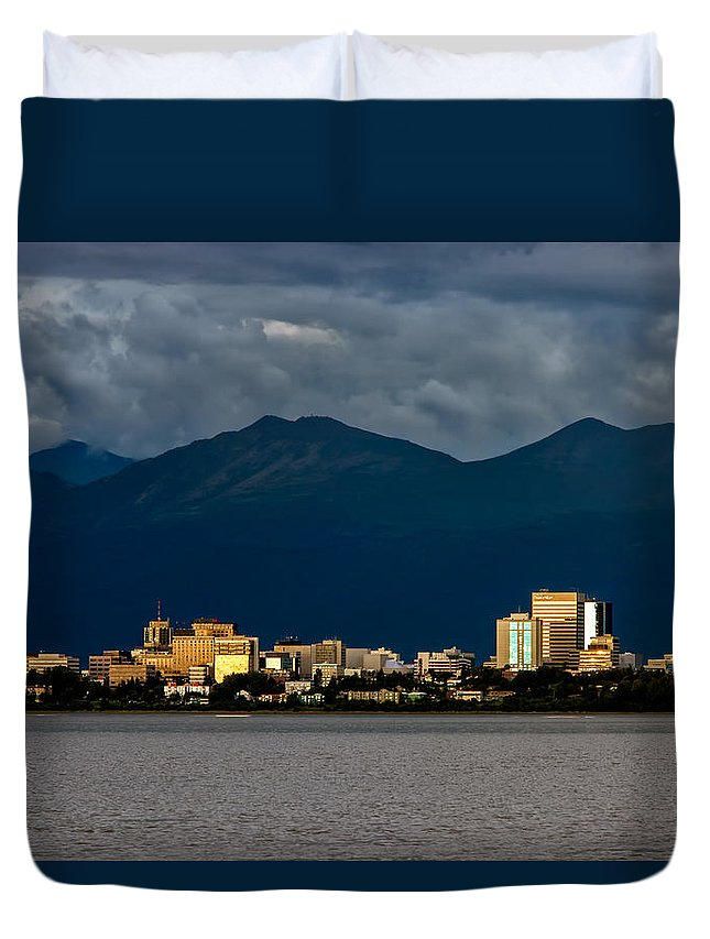 Mountains Duvet Cover featuring the photograph Anchorage by Rick Berk