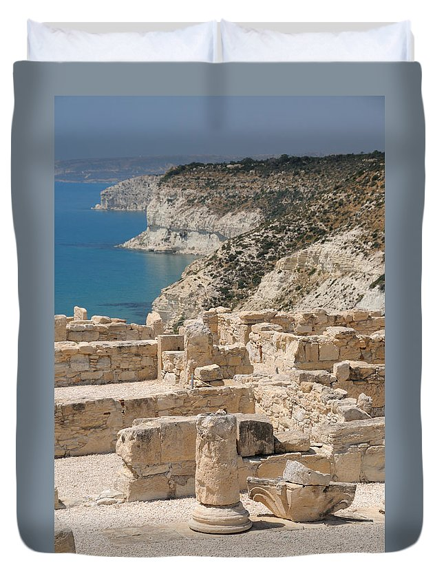 Cyprus Duvet Cover featuring the photograph Ancient Curium 2 by Jeremy Voisey