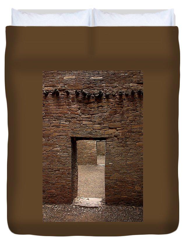 Anasazi Duvet Cover featuring the photograph Ancient Gallery by Joe Kozlowski