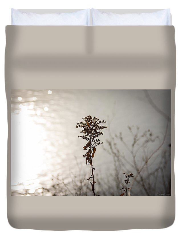 South Dakota Duvet Cover featuring the photograph And Then The Sun by M Dale