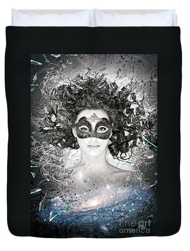 Andromeda Duvet Cover featuring the photograph Andromeda by Mo T