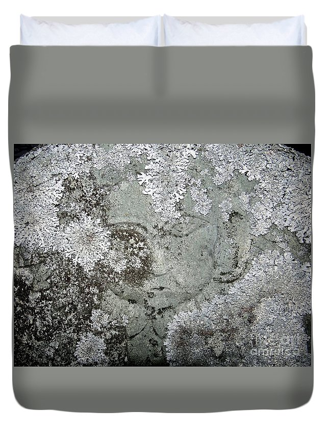 Tombstone Duvet Cover featuring the photograph Angel In Disguise by Ed Weidman