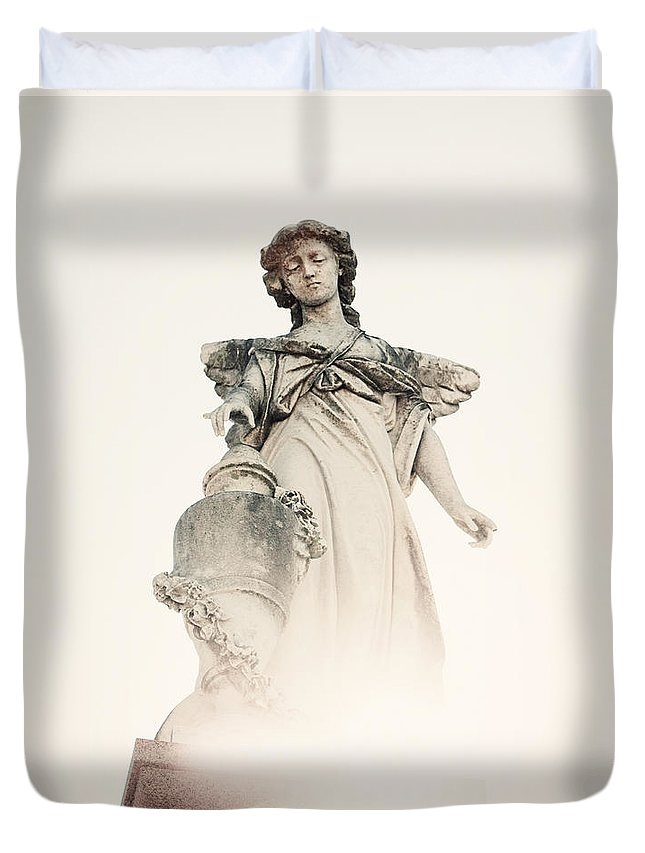 New Orleans Duvet Cover featuring the photograph Angel No 2 by Erin Johnson