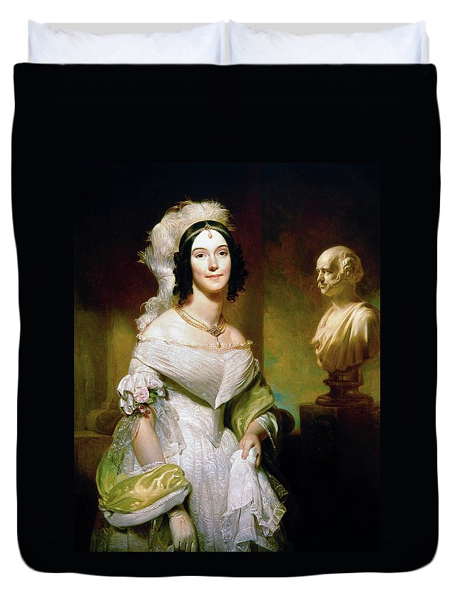 1842 Duvet Cover featuring the painting Angelica S by Granger