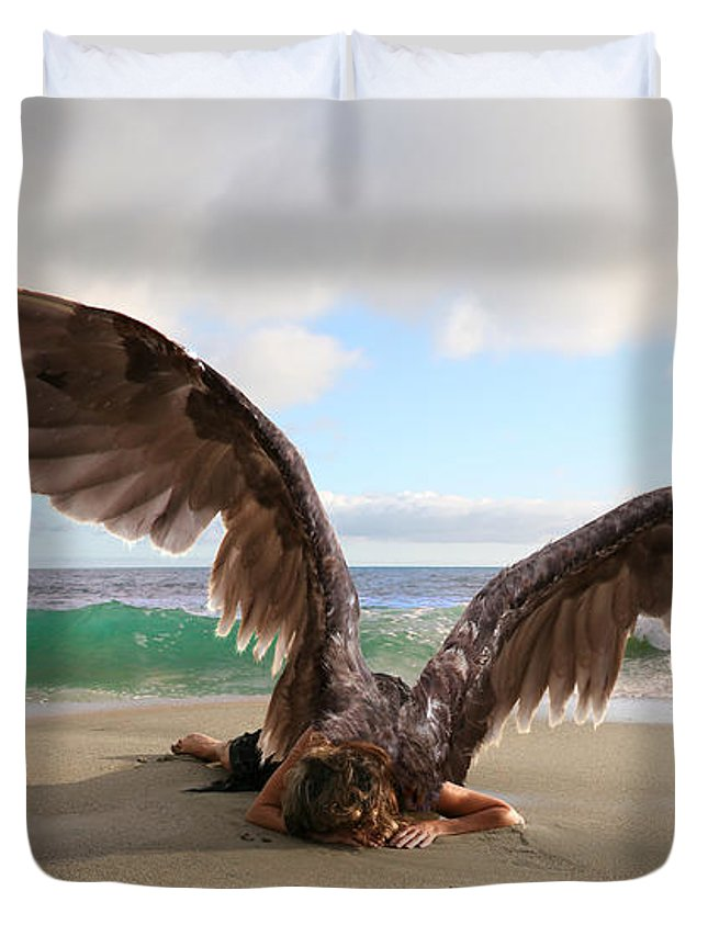 Alex-acropolis-calderon Duvet Cover featuring the photograph Angels- For The Lord Himself Will Descend From Heaven With A Shout by Acropolis De Versailles