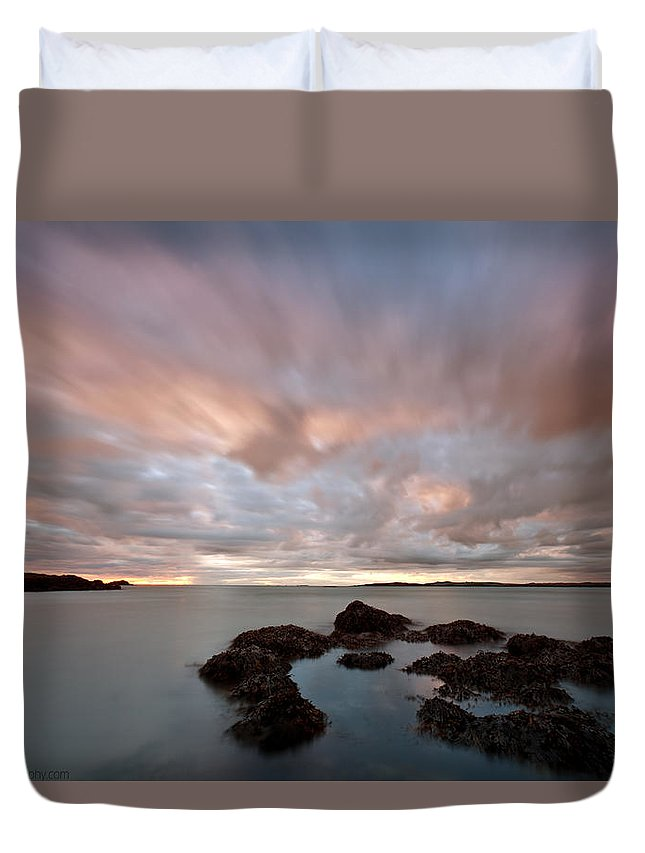 Rhosneigr Duvet Cover featuring the photograph Anglesey Sunset by Beverly Cash