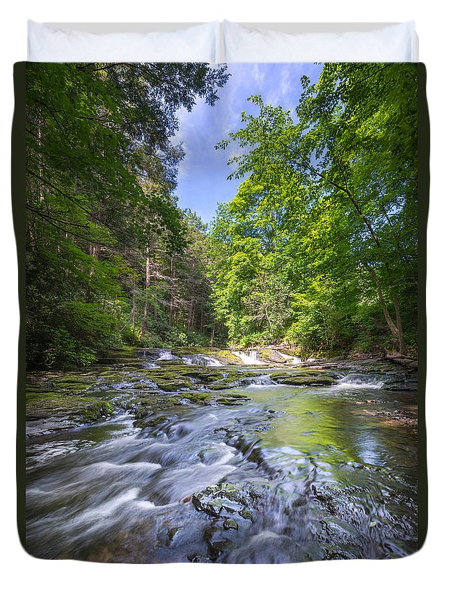 Off The Beaten Path Duvet Cover featuring the photograph Ankle Deep by Michael Ver Sprill