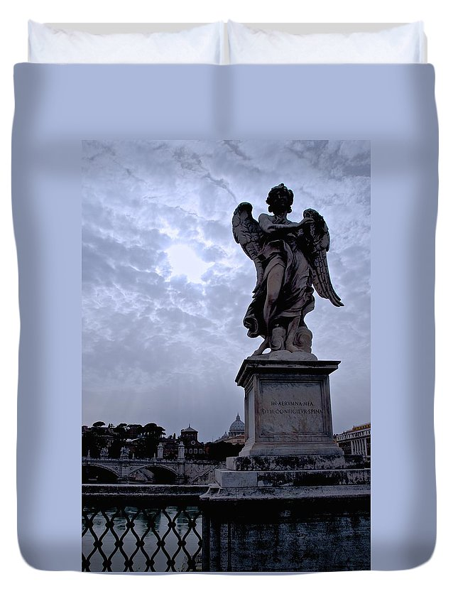 Angel Duvet Cover featuring the photograph Another Angel by Eric Tressler