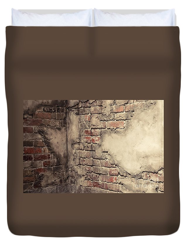 Brick Duvet Cover featuring the photograph Another Brick In The Wall by Bianca Nadeau