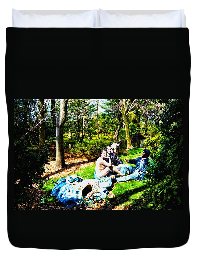 The Luncheon On The Grass Duvet Cover featuring the photograph Another Luncheon On The Grass by Bill Cannon