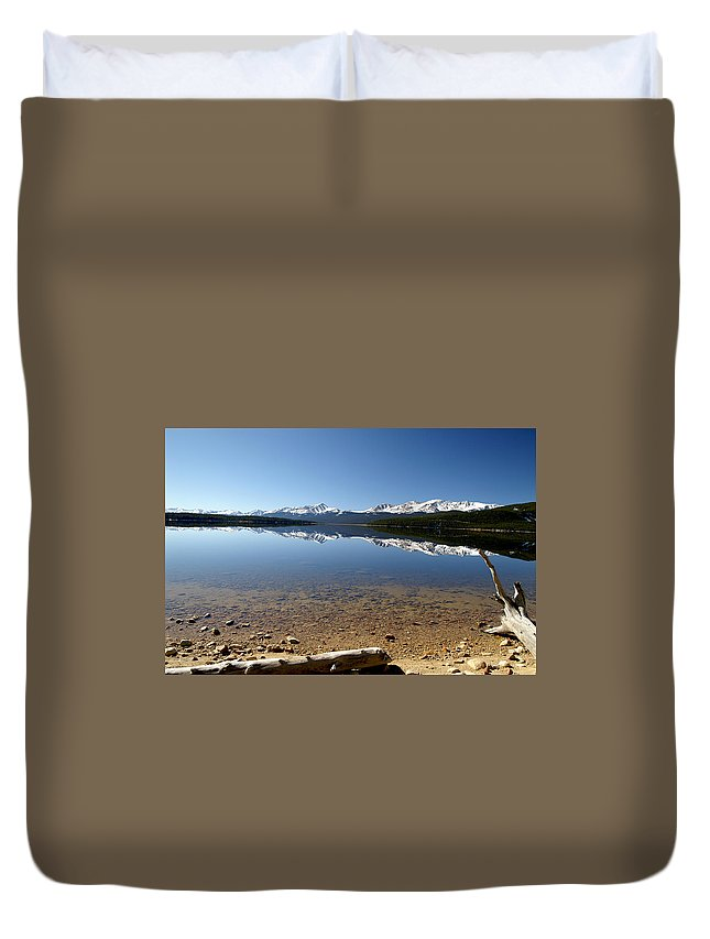 Reflection Duvet Cover featuring the photograph Another Perfect Day by Jeremy Rhoades