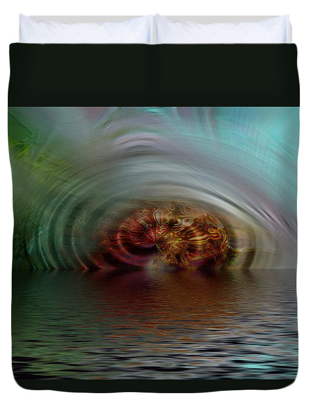 Abstract Duvet Cover featuring the photograph Another World by Richard Thomas