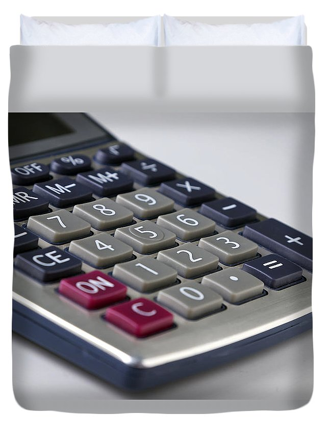 Calculator Duvet Cover featuring the photograph You Can Count On Me by Mark McKinney