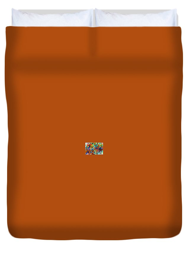 Torah Duvet Cover featuring the drawing Answers In Abundance 1 by David Baruch Wolk