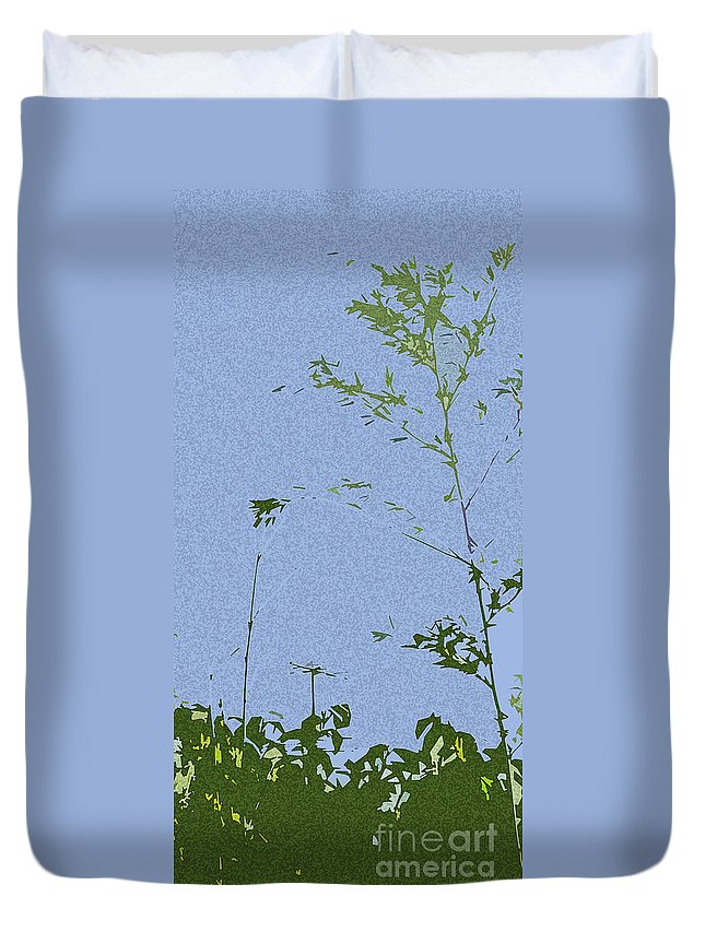 Landscape Duvet Cover featuring the photograph Antenna Cutout by Tracy Long