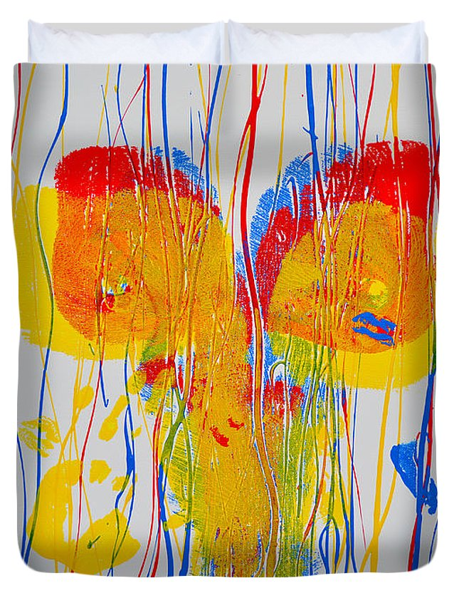 Nude Paintings Paintings Duvet Cover featuring the painting Anterior Aspects by Mayhem Mediums
