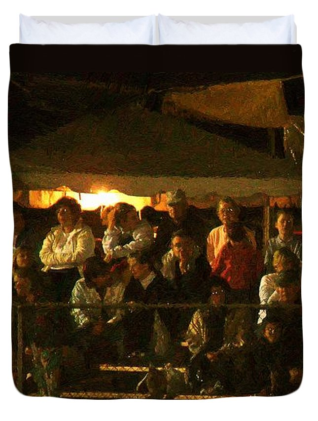 Audience Duvet Cover featuring the painting Anticipation by RC DeWinter