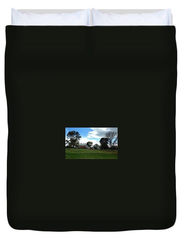 Antietam Battlefield Duvet Cover featuring the photograph Antietam Battlefield by Lois Ivancin Tavaf
