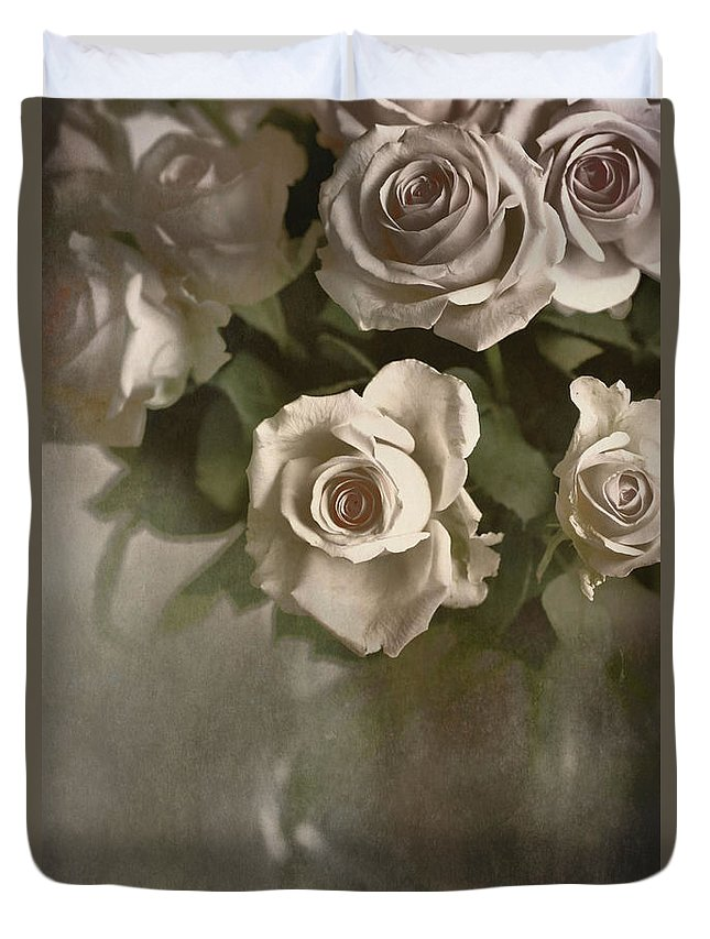 Roses Duvet Cover featuring the photograph Antique Roses by Annie Snel