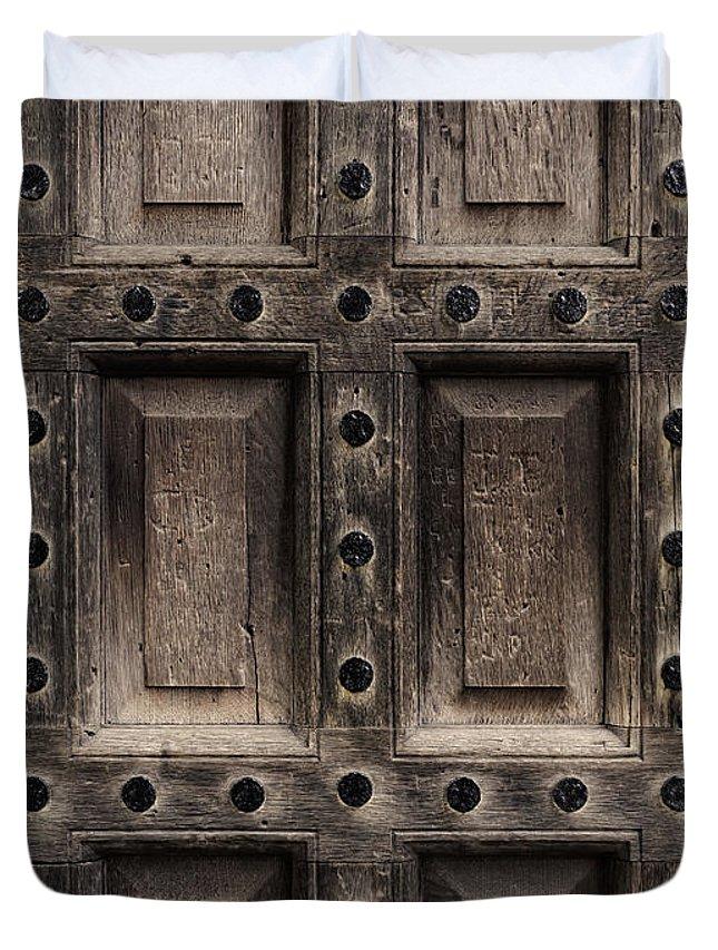 Antique Wooden Door Closeup Duvet Cover on
