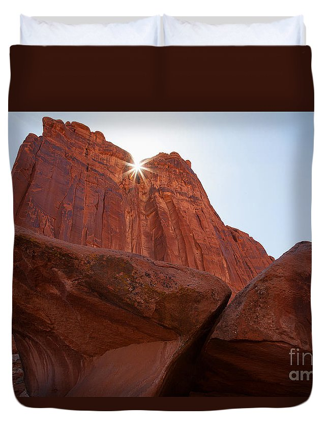 Utah Duvet Cover featuring the photograph Stars In My Crown by Jim Garrison