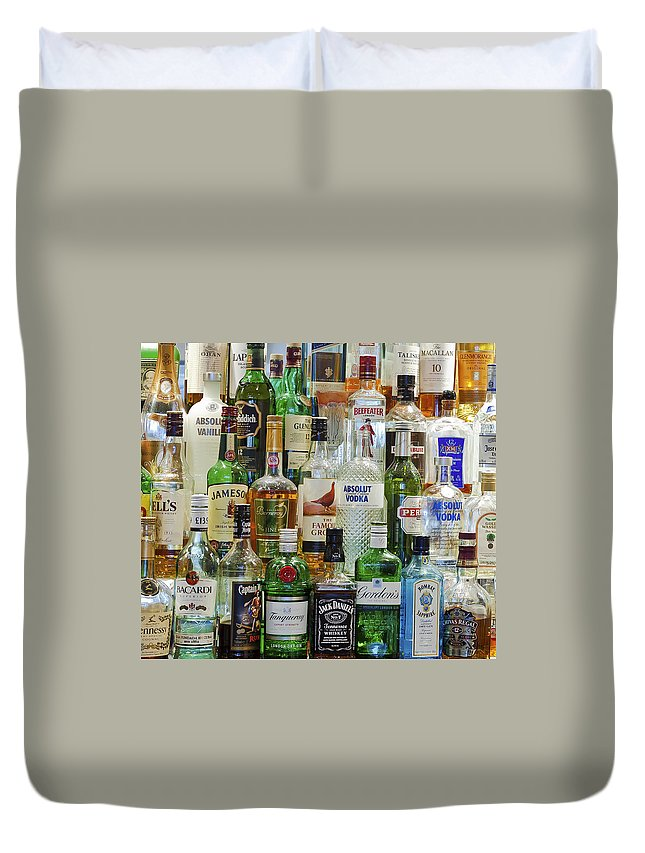 Drink Duvet Cover featuring the photograph Anyone For A Drink by Maj Seda