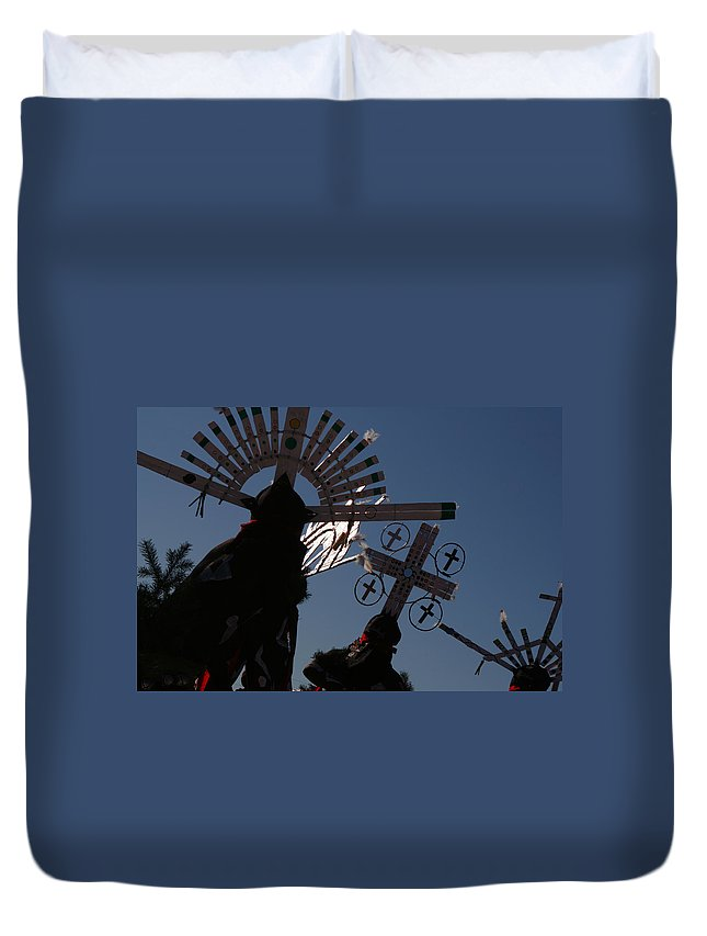 Dance Duvet Cover featuring the photograph Apache Dancers by Joe Kozlowski
